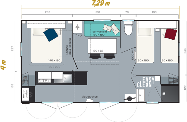 mobilhome-mercure-30m2-camping-bel-air-bordeaux-plan